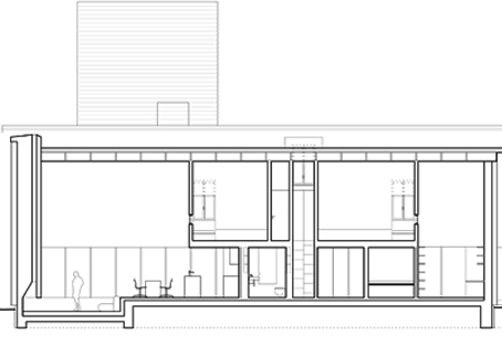 Das Haus Hat 2 Etagen. In Der Unteren Etage Befindet Sich Ein Großzügiger,  6 M Hoher Wohnraum Mit Kamin Und Offener Küche.